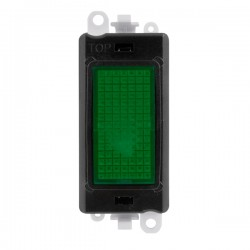 Click GridPro 240V Green Indicator Module with Black Insert