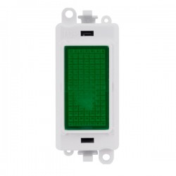 Click GridPro 240V Green Indicator Module with White Insert