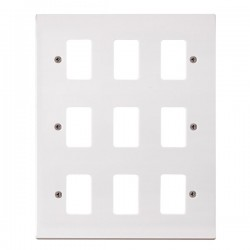 Click Polar GridPro 9 Gang Front Plate