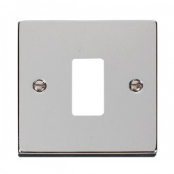 Click Deco GridPro Polished Chrome 1 Gang Front Plate