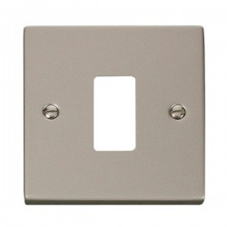 Click Deco GridPro Pearl Nickel 1 Gang Front Plate