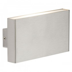 Knightsbridge 2x8W Brushed Chrome Up/Down Twin LED Wall Light