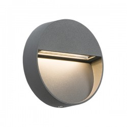 Knightsbridge 2W Round Grey LED Wall/Guide Light