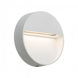 Knightsbridge 2W Round White LED Wall/Guide Light