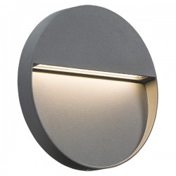 Knightsbridge 4W Round Grey LED Wall/Guide Light