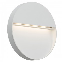 Knightsbridge 4W Round White LED Wall/Guide Light