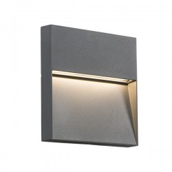 Knightsbridge 2W Square Grey LED Wall/Guide Light