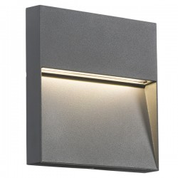 Knightsbridge 4W Square Grey LED Wall/Guide Light