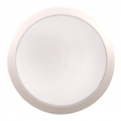 Click Ovia Inceptor Evo 17W White LED Bulkhead with Microwave Sensor and Emergency Backup