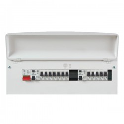 MK Electric Sentry Metal Fully Populated 21 Way Consumer Unit
