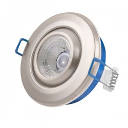 Click Ovia Inceptor Nano<sup>5</sup> 4.8W Warm White Dimmable Satin Chrome Adjustable LED Downlight