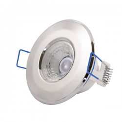 Click Ovia Inceptor Nano<sup>5</sup> 4.8W Warm White Dimmable Chrome Fixed LED Downlight