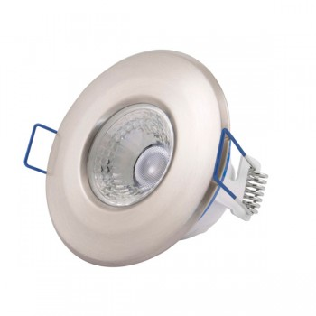 Click Ovia Inceptor Nano<sup>5</sup> 4.8W Warm White Dimmable Satin Chrome Fixed LED Downlight