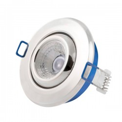 Click Ovia Inceptor Nano<sup>5</sup> 4.8W Warm White Dimmable Chrome Adjustable LED Downlight