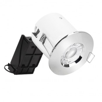 Aurora Lighting EFD Pro Polished Chrome IP65 Fixed Bezel