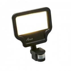 Ansell Calinor 50W 4000K Black LED Floodlight with PIR