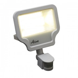 Ansell Calinor 50W 3000K White LED Floodlight with PIR