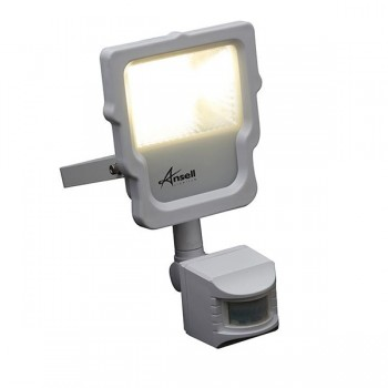 Ansell Calinor 10W 3000K White LED Floodlight with PIR