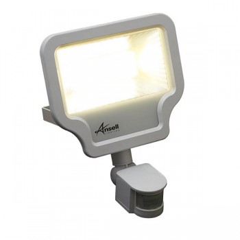 Ansell Calinor 50W 4000K White LED Floodlight with PIR