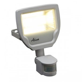 Ansell Calinor 30W 3000K White LED Floodlight with PIR