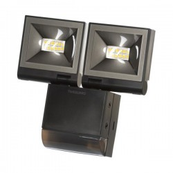 Timeguard 2x10W LED Compact PIR Floodlight in Black
