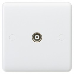 Knightsbridge Curved Edge Non-Isolated TV Coaxial Outlet