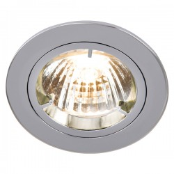 Knightsbridge 50W Fixed GU10/MR16 Chrome Downlight