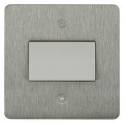 Focus SB Horizon HSS56.1W Fan Isolator Switch in Satin Stainless