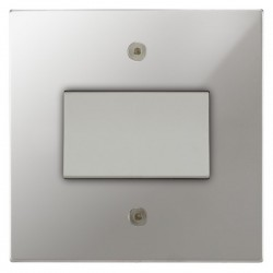 Focus SB Horizon Square NHPC56.1W Fan Isolator Switch in Polished Chrome
