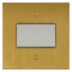Focus SB Horizon Square NHSB56.1W Fan Isolator Switch in Satin Brass