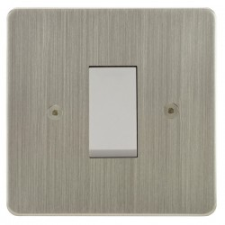 Focus SB Horizon HSN32.1W/SML 45 amp Cooker Control Switch in Satin Nickel