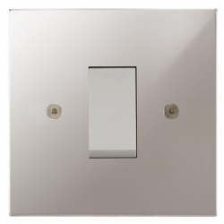 Focus SB Horizon Square NHPS32.1W/SML 45 amp Cooker Control Switch in Polished Stainless