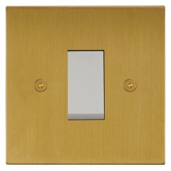 Focus SB Horizon Square NHSB32.1W/SML 45 amp Cooker Control Switch in Satin Brass