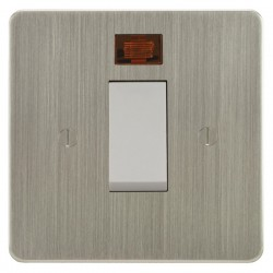 Focus SB Ambassador ASN33.1W/SML 45 amp Cooker Control Switch with Neon in Satin Nickel