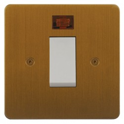 Focus SB Horizon HBA33.1W/SML 45A Cooker Control Switch with Neon in Bronze Antique