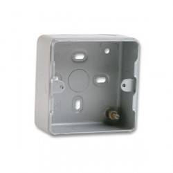 MK Electric Metalclad Plus™ 1 Gang 38mm Surface Back Box with 6x20mm Knockouts