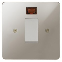Focus SB Horizon HPN33.1W/SML 45 amp Cooker Control Switch with Neon in Polished Nickel