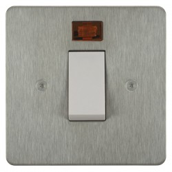 Focus SB Horizon HSS33.1W/SML 45 amp Cooker Control Switch with Neon in Satin Stainless