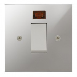 Focus SB True Edge TEAPC33.1W/SML 45 amp Cooker Control Switch with Neon in Polished Chrome