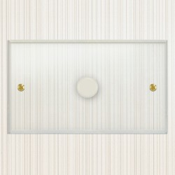 Focus SB Prism P43.1W 1 Gang 700W Low Voltage, 1000W Mains Voltage Dimmer in Clear Acrylic
