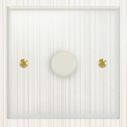 Focus SB Prism P22.1W 1 Gang 2 Way 400W (Mains and Low Voltage) Dimmer in Clear Acrylic