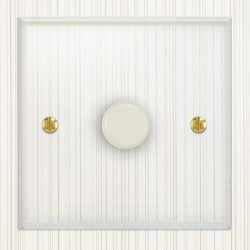 Focus SB Prism P21.1W 1 Gang 2 Way 250W (Mains and Low Voltage) Dimmer in Clear Acrylic