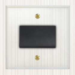 Focus SB Prism P56.1B Fan Isolator Switch in Clear Acrylic