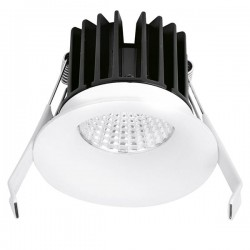 Aurora Lighting CurveE 7W Warm White Dimmable Fixed LED Downlight - 10mm Baffle Recess