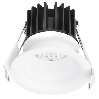 Aurora Lighting CurveE 7W Cool White Dimmable Fixed LED Downlight - 20mm Baffle Recess