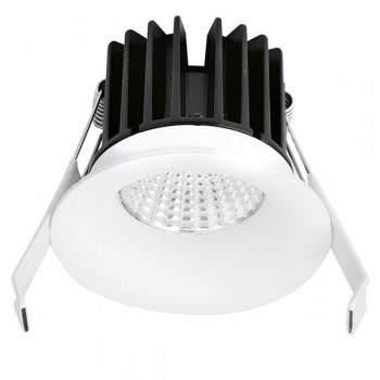 Enlite CurveE 10W Warm White Dimmable Fixed LED Downlight - 10mm Baffle Recess