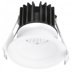 Aurora Lighting CurveE 10W Warm White Dimmable Fixed LED Downlight - 20mm Baffle Recess
