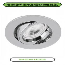Aurora Lighting EDLM Pro 50W Adjustable GU10 Downlight with White Bezel
