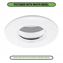 Aurora Lighting EDLM Pro IP65 50W Fixed GU10 Downlight with Polished Chrome Bezel
