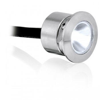 Enlite M-Lite Pro IP68 1W 5700K Round Stainless Steel LED Marker Light